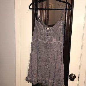 Purple/Gray Baby Doll Dress